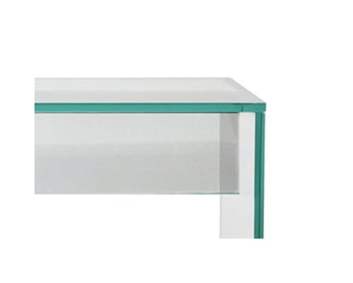 Tables by Gusto Design Collection seen at Creator's Studio, Miami - CONTEMPORARY GLASS CONSOLE YABLE