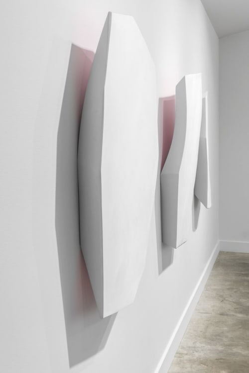 Sculptures by Dameon Lester seen at grayDUCK Gallery, Austin - Glacial Fall / Glacial Drop / Glacial Plunge