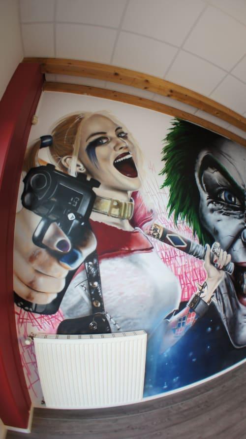 Murals by SIZETWO seen at E.M.P. Merchandising Handelsgesellschaft mbH, Lingen (Ems) - Panic Break