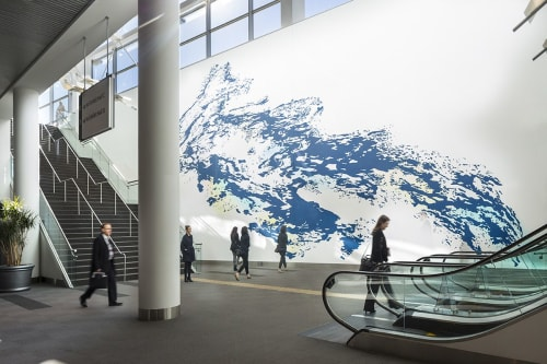 Murals by Mindy Bray seen at Colorado Convention Center, Denver - The Heavy is the Root of the Light