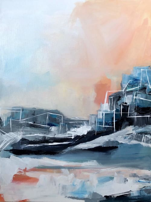 Paintings by Melanie Biehle seen at Cura Co, Seattle - Shedding