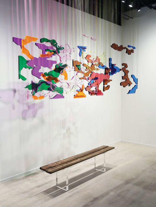 Sculptures by Gabriela Noelle seen at LnS Gallery, Miami - Cubes in Flatland