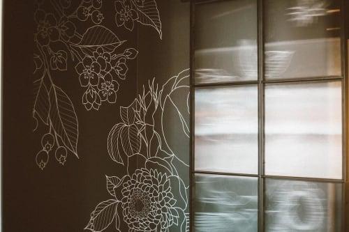 Wallpaper by Mikey Wheeler seen at Crossroads Hotel, Kansas City - Wallpaper Design
