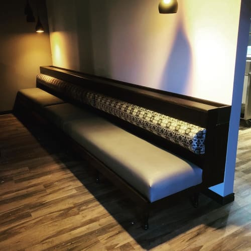 Benches & Ottomans by Pura Vida Wood Co seen at La Reina, Guelph - Bespoke Furniture