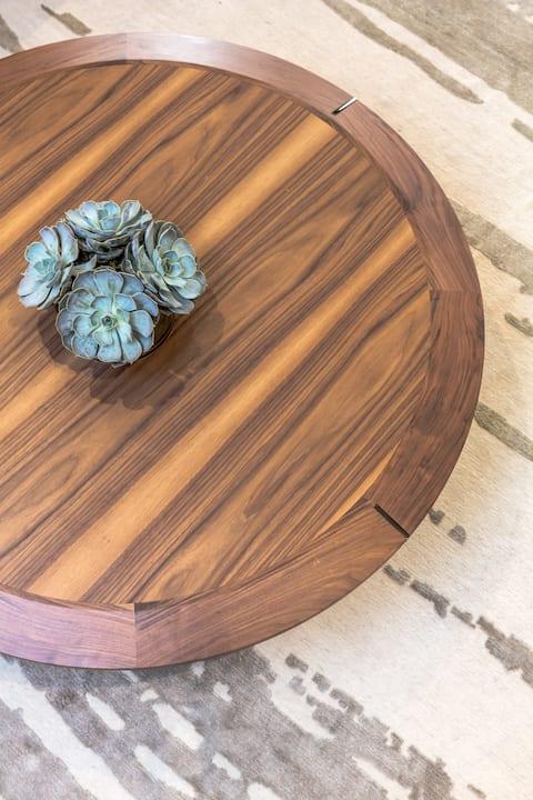 Tables by Marie Burgos Design at NY Bachelor Pad, New York - Diamond Table