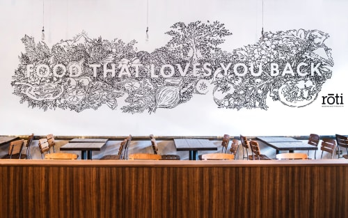 Murals by Jesse Hora seen at Chicago, Chicago - Food That Loves You Back - Roti