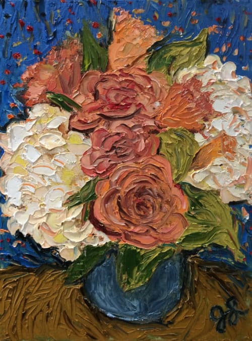 Art & Wall Decor by Jamie L. Luoto seen at Two Thirty-Five Luxury Suites, Healdsburg - Hydrangea Bouquet In Foss Creek Suite