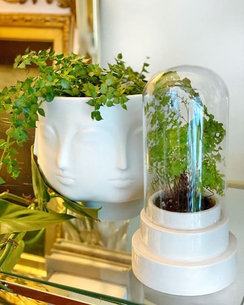 Vases & Vessels by cone10 seen at Private Residence, Palm Beach Gardens - Stepped Planter with covered glass
