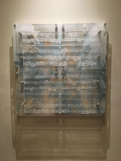 Art Curation by Sabre Esler seen at Private Residence, Atlanta - Canon I 48 x 48 x 6 in.