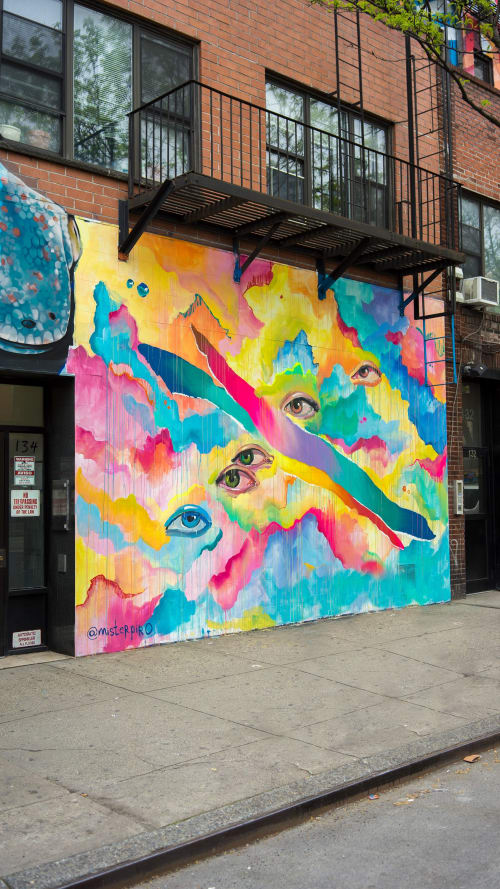 Murals by MISTERPIRO seen at 123 Allen St, New York - NYEYES