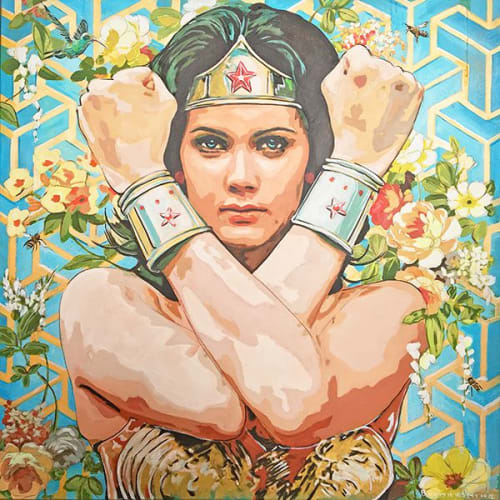 Paintings by Mark Boomershine seen at Private Residence, Los Angeles - Wonder-woman