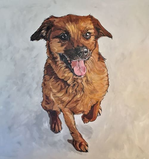 Paintings by Mark Boomershine seen at Private Residence, Fort Hunt - Bonnie Dog