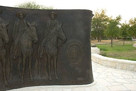 Public Sculptures by Bob Guelich seen at Oblate School of Theology, San Antonio - Calvary of Christ