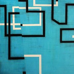 Geometric Abstract Painting   Paintings by Steven Baris   Space Gallery in Denver