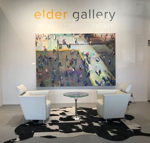 Paintings by Grant Drumheller seen at Elder Gallery of Contemporary Art, Charlotte - Munich Plaza