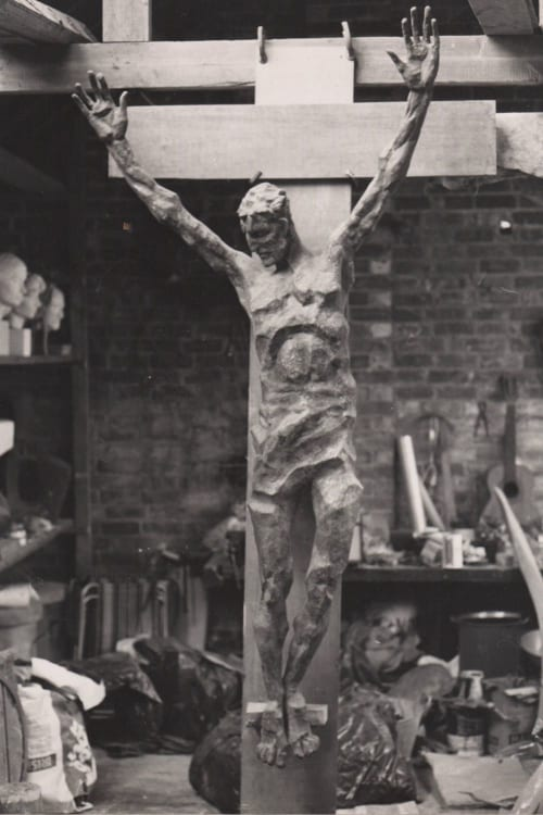 Sculptures by Bob Dawson seen at Private Residence, Wollaston - Crucifix