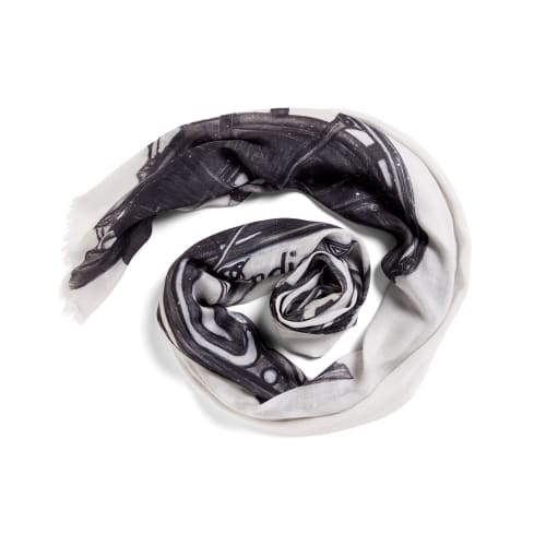 "Apparel & Accessories by Seth B Minkin Fine Art at Seth B Minkin Studio + Showroom, Boston - Vintage Motorcycle | Large Oblong Scarf | 40"" x 78"" | 85% modal . 15% cashmere . 100% original"