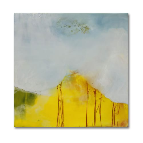 Paintings by Mel Rea at Private Residence, Lexington - Encaustic Install