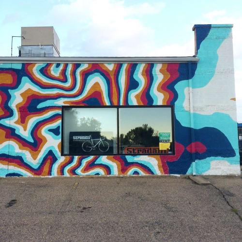 Murals by Beatnik Prints seen at Stradalli Carbon Cycles, Boulder - Mural