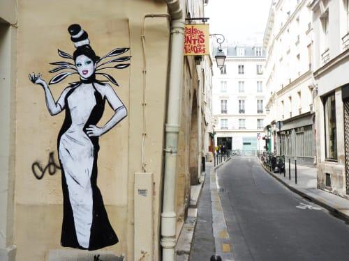 Street Murals by Suriani Art seen at 3e Arrondissement, Paris, France, Paris - Ben de la Crème