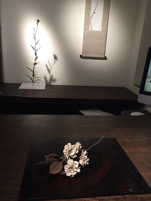 Sculptures by Shota Suzuki seen at New York, New York - Double cherry blossoms