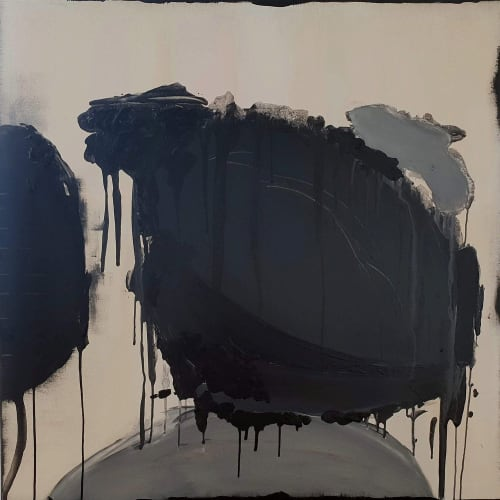Paintings by Emilie Heurtevent seen at WHO Gallery, Malvern East - Decay & Renewal #7, Robot and Decay & Renewal #2
