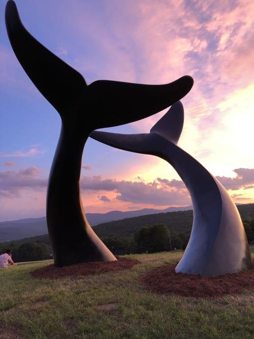 Public Sculptures by Jim Sardonis seen at Randolph, Randolph - Whale Dance