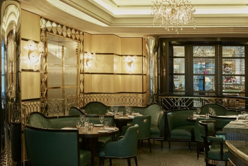 Lighting Design by Serip seen at Kaspar's at The Savoy, London - The Kaspar's, a seafood restaurant and oyster bar designed in dazzling Art Deco style