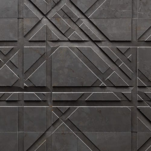 Tiles by Lithos Design seen at Still Beauty Space, Moskva - Tartan Stone Wall Tiles