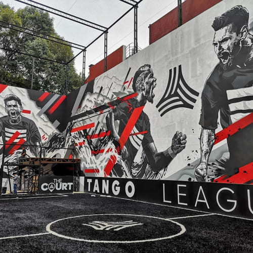 Street Murals by Mike Maese seen at The Court, Ciudad de México - mural (sports)