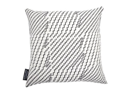 Pillows by Beatrice Larkin seen at Private Residence, London - Step Light Cushion & Line Cushion