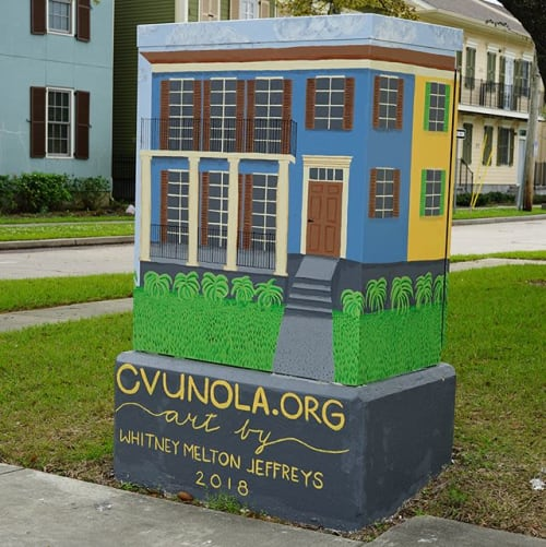 Street Murals by Art Gumbo seen at 1800 Orleans Ave, New Orleans - Orleans @ I-10 Vieux Carre