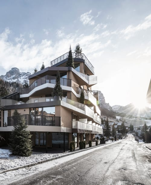 Architecture by noa* network of architecture seen at Hotel Tofana, San Cassiano - Tofana: a house brings nature into the house