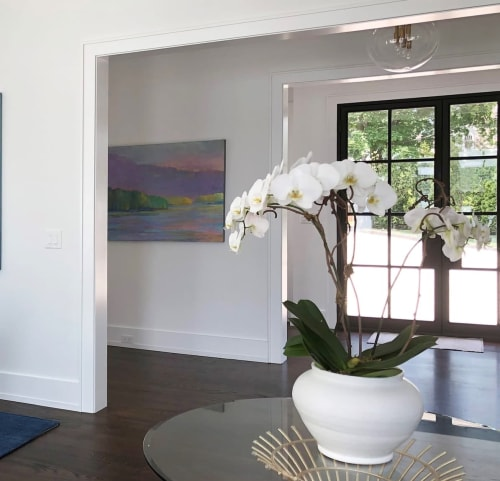 Paintings by Ken Elliott Fine Art seen at Private Residence, Connecticut - Water And Sky In Flow