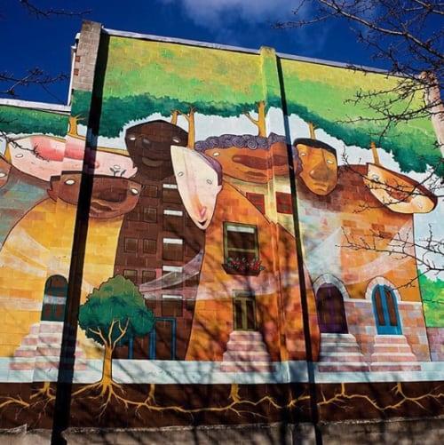 Street Murals by Danamarie Hosler seen at East 21st Street, Baltimore - Neighborhood tree