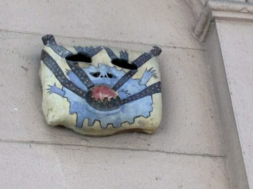 Art & Wall Decor by Dina Bursztyn seen at 312 West 49th Street, New York, New York - Gargoyles to Scare Developers
