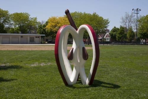 Public Sculptures by Micki LeMieux seen at 2515 N Clark St, Chicago - Ideal of an Apple