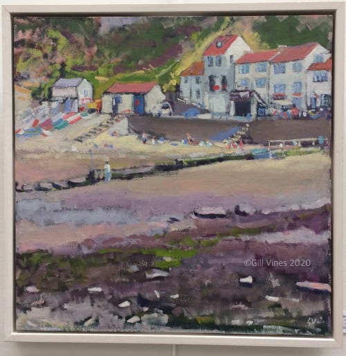 Paintings by Gill Vines Artist seen at Private Residence, Lincoln - Staithes Harbour