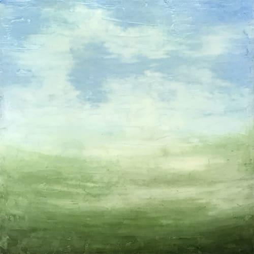 Summer Afternoon Encaustic Painting   Paintings by Linda Cordner