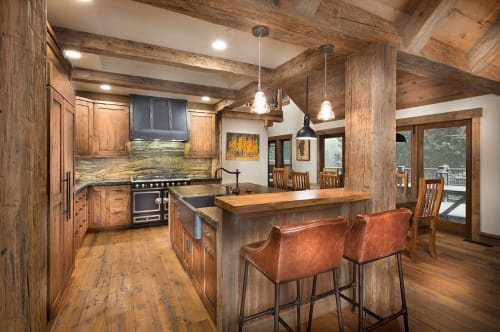 Interior Design by Aspen Leaf Interiors by Marcio Decker seen at Private Residence, Tahoe City, Tahoe City - Tahoe Family Lodge