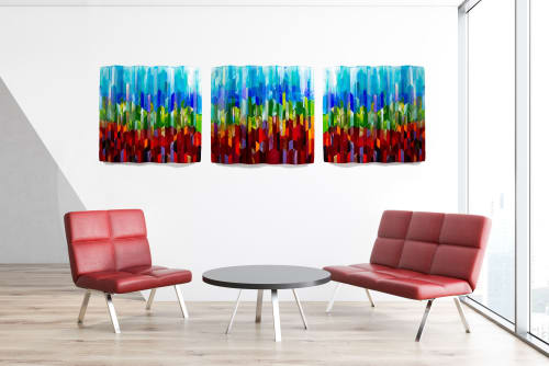 Art & Wall Decor by Barbara Westfall seen at ProHealth Medical Group Clinic Mukwonago, Mukwonago - Faceted Rainbows