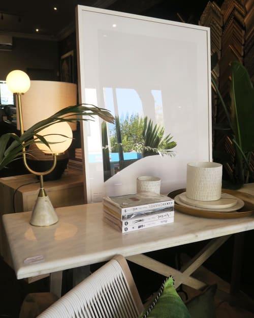 Lamps by Moda Piera seen at Framing to a T - Brighton, Brighton - Arancini Jnr
