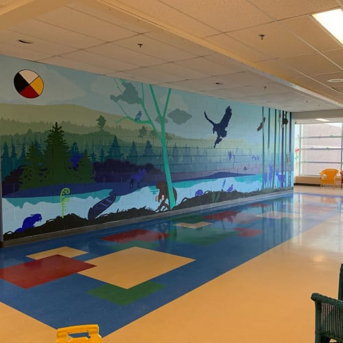 Murals by Jean Rooney Visual Artist seen at Perth-Andover Middle School, Perth-Andover - Wall mural