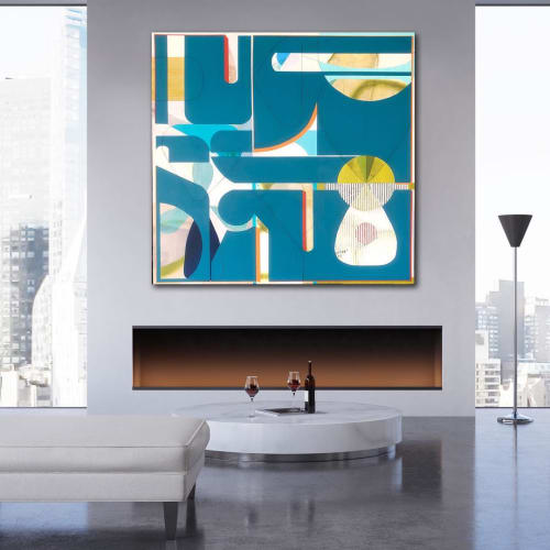 Paintings by TS ModernArt Studio seen at Private Residence, Los Angeles - Blueberry Hill