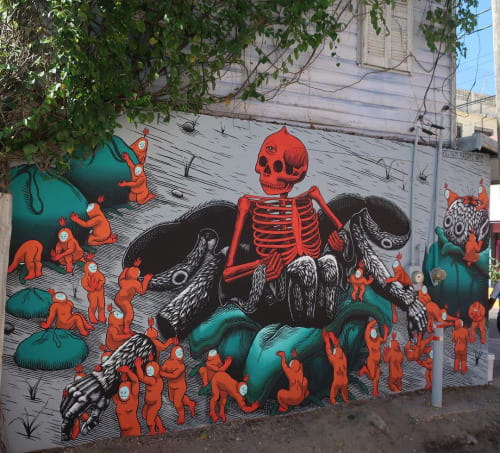 Street Murals by Kill Choy seen at Belize City, Belize City - Transformation