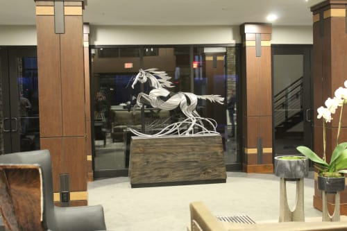 Sculptures by Amie Jacobsen Art and Design seen at The Fairways of Ironhorse, Leawood - Indefatigable Soul