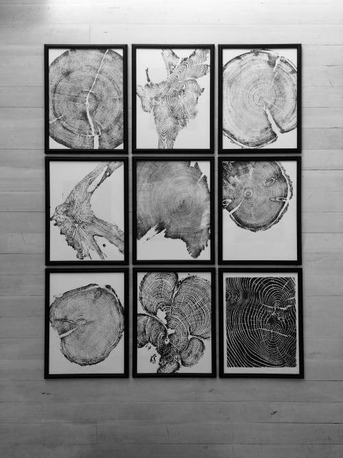 Set of 9 Tree Ring Prints   Art & Wall Decor by Erik Linton