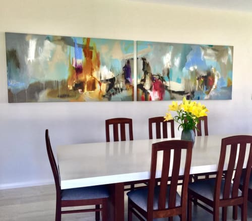 Paintings by Rob Forlani seen at Private Residence, Perth - 'Unit Circle'