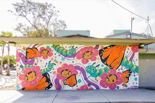 Street Murals by Crisselle Mendiola seen at Drake Park, Long Beach - POW!WOW! Wall Mural