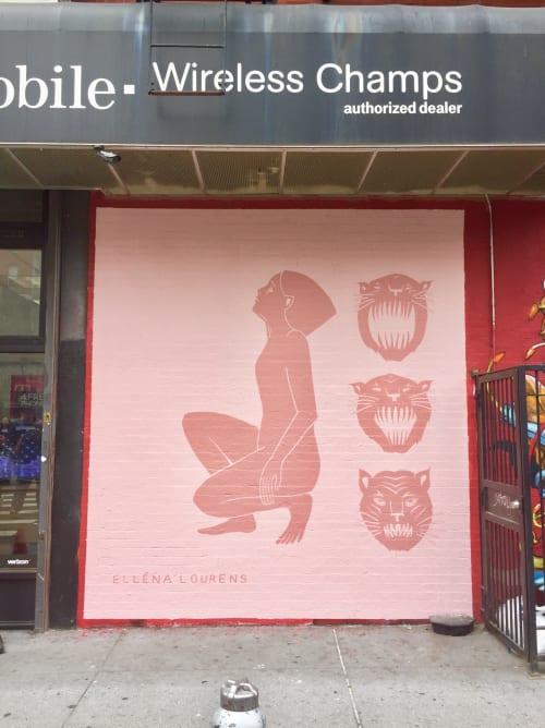 Murals by Elléna Lourens seen at Chinatown, New York - As above